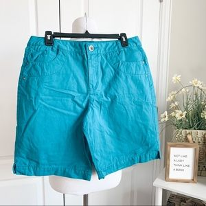 Vintage Faded Glory Teal High Rise Shorts
